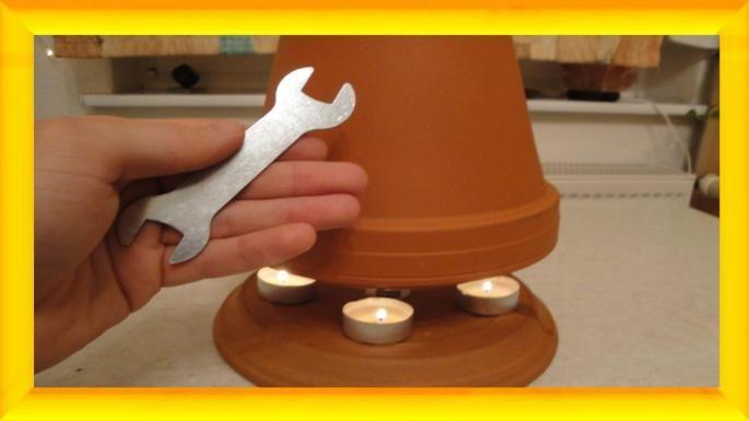 Der Teelichtofen ist Handwärmer, Wellnessofen, Tischheizung und Selbstversorger Lampe in einem..so sinnvoll, kreativ und jeder kann es aus den einfachsten Bauteilen selbst zusammensetzen - OBI Selbstgemacht! Blog. Selbstbauanleitung für jedermann.