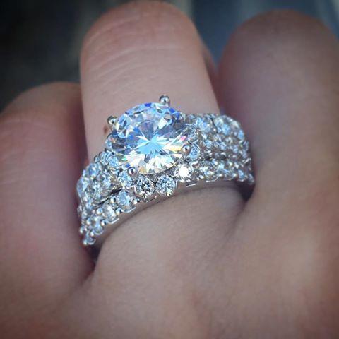 Engagement Rings 2017  Gabriel & Co. ER7292W44JJ 14k White Gold Diamond Halo Engagement Ring Setting