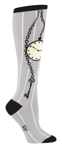 328e17190 Pocket Watch and Key Knee High Socks - Alice in Wonderland ...
