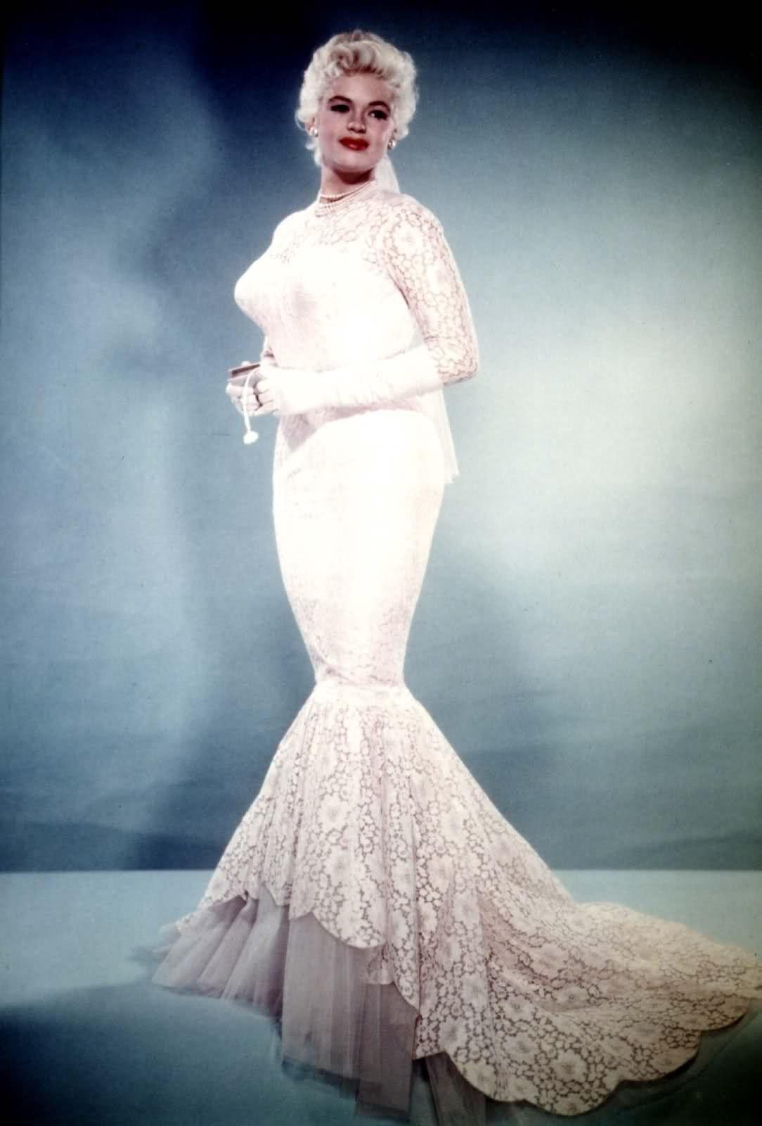 Jayne Mansfield wedding dress