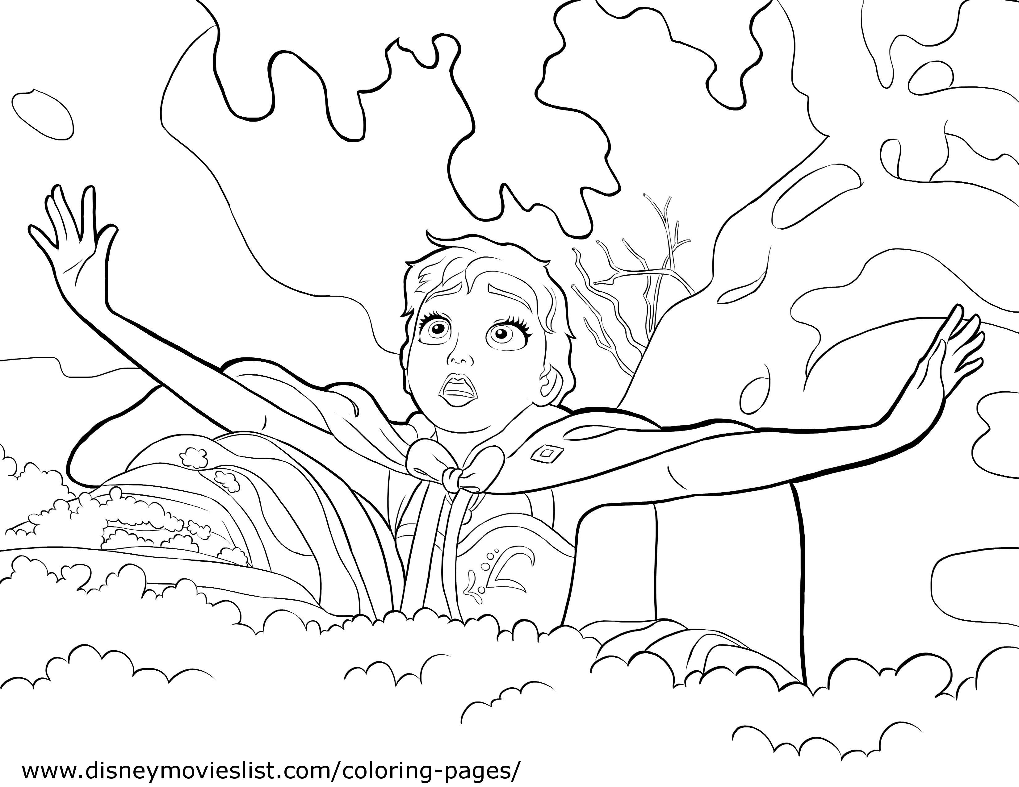 disneys frozen olaf coloring page - Disney Coloring Pages Frozen