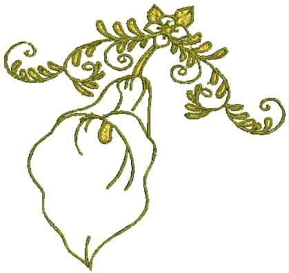 Lily Machine Embroidery Designs Embroidery Patterns Flowers