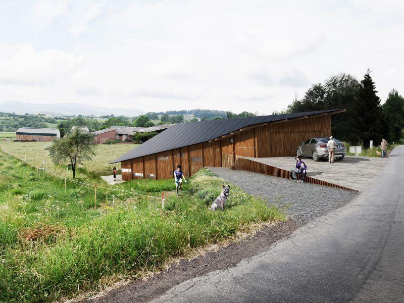 En Auvergne une maison papillon signée Kengo Kuma charpentes et
