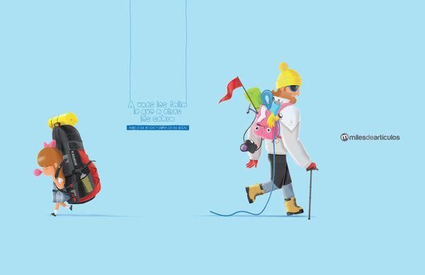 Campaña Miles de Artículos CASA EDITORIAL EL TIEMPO by Raul Orozco, via Behance
