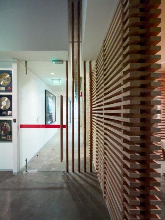 493049d1440303528 Wood Slat Walls Acoustic Spaces Unique Looking Walls Wood1 Jpg 576 768 Wood Slat Wall Slat Wall Wood Slats