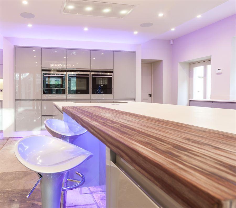 Atlantis Kitchens Project Kendal Handleless Gloss Grey