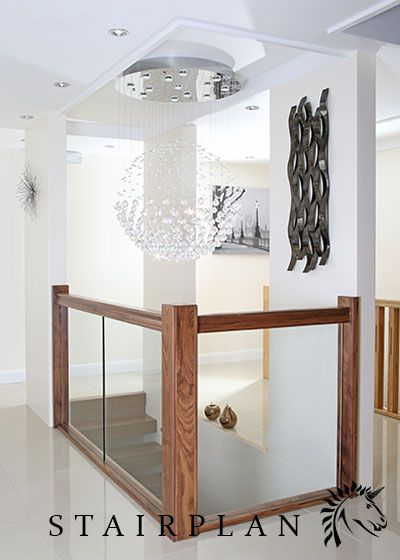 Best Glass Balustrade Panels Feature Staircase Oak Balustrade Glazed Stair Panels Feature Lighting 400 x 300