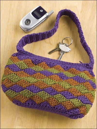 Entrelac Bag | Entrelac Crochet | Pinterest | Stricken und Häkeln