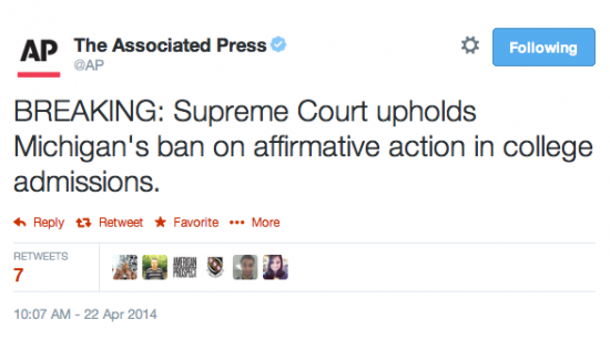Supreme Court Will Hear Texas Affirmative Action Case