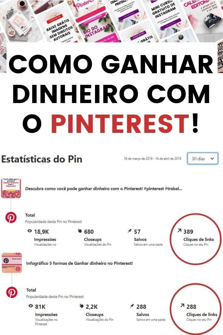 Como ganhar dinheiro na internetcom o Pinterest
