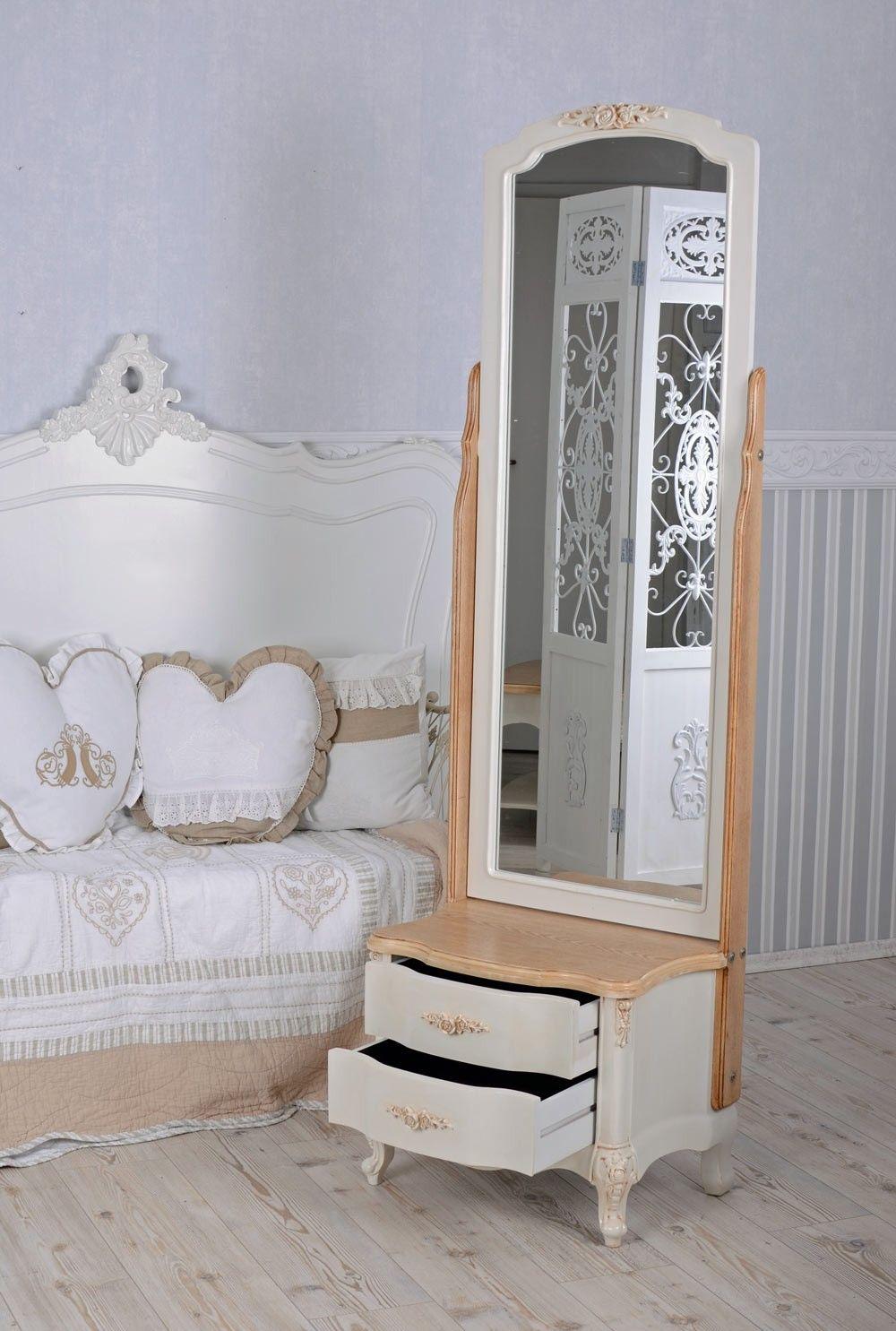 Standspiegel Vintage Spiegel Toilettenspiegel Shabby Chic
