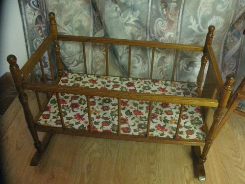 Mouse Over Image To Zoom Have One To Sell Sell It Yourself Vintage 1960s Wooden Doll High Chair W Movement And Cass Toys Rocking Doll High