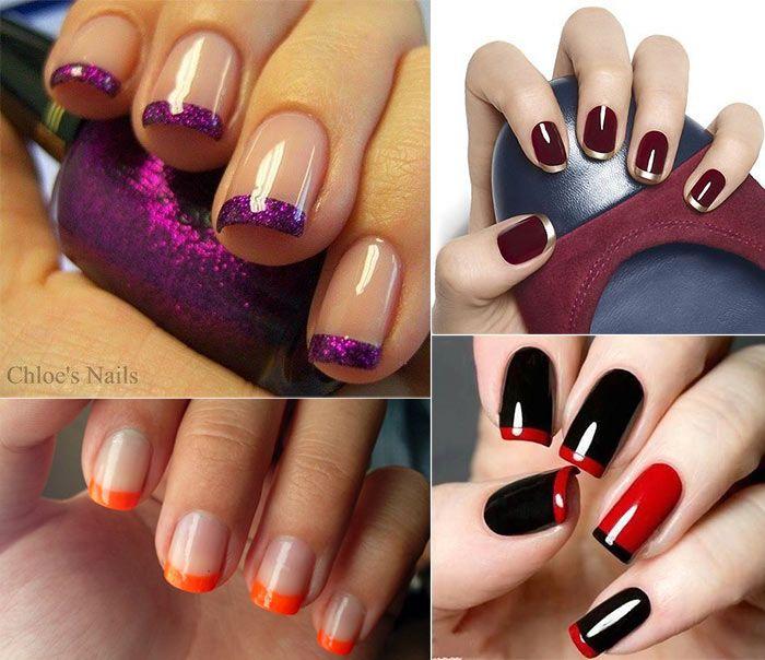 unhas decoradas francesinha 45 fotos french nails and manicure. Black Bedroom Furniture Sets. Home Design Ideas