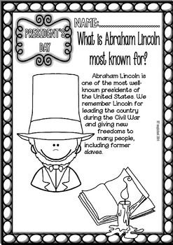 President's Day Unit Study/Sheets, Online Games and