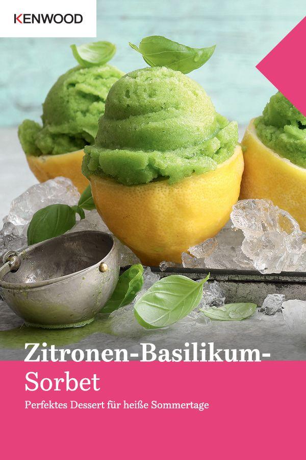 Zitronen-Basilikum-Sorbet | Kenwood Club