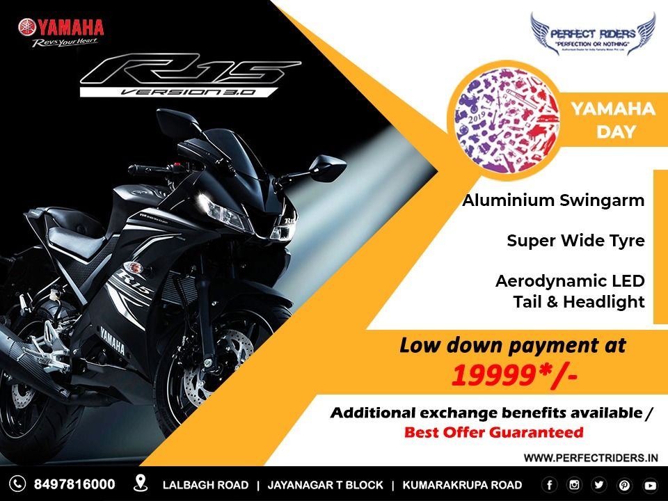 The All New Yamaha Yzf R15 V 3 0 Speed Is Reborn Book Now Call