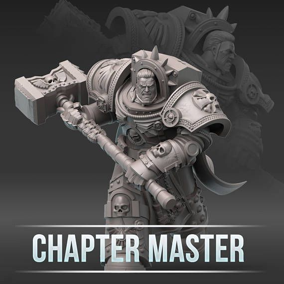 28mm Wargaming And Collectible Miniature, Chapter Master