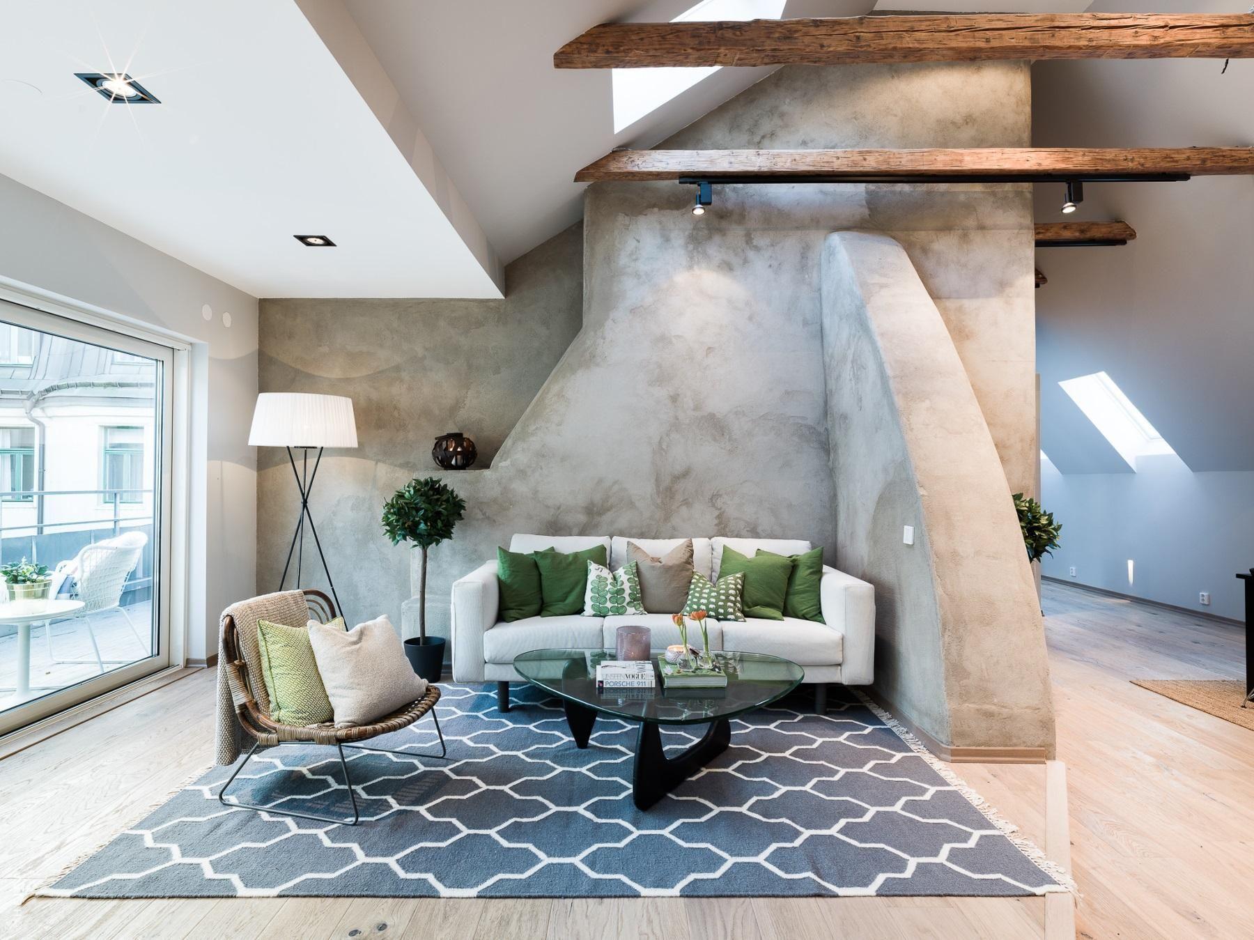 Murs Effet Sous Les Toits Attic Living Roomsattic