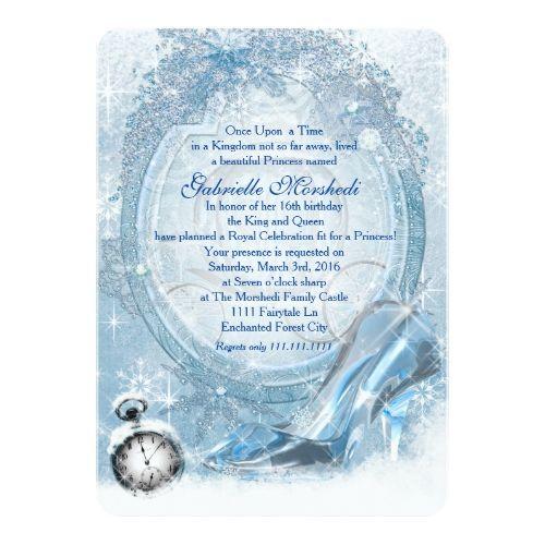 Cinderella Sweet 16 Invitation Zazzle Com In 2019 Birthday