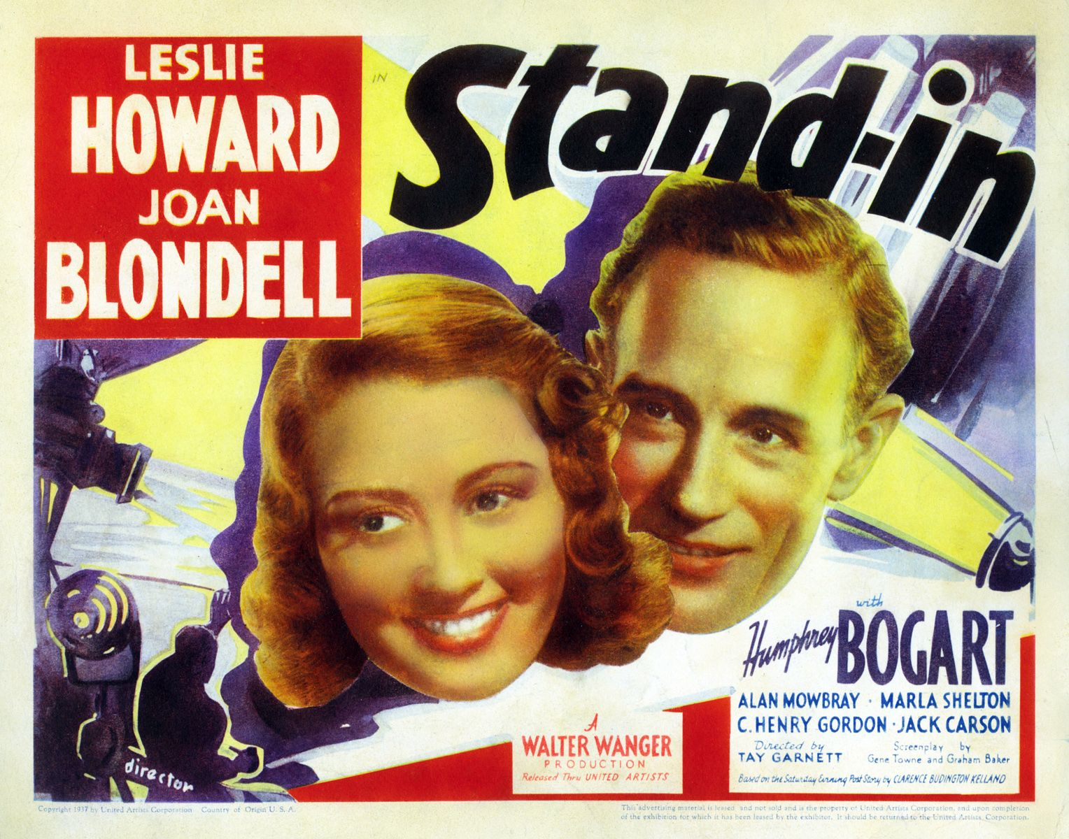 Stand In Leslie Howard Humphrey Bogart And Joan Blondell 1937 Leslie Howard Humphrey Bogart Bogart Movies