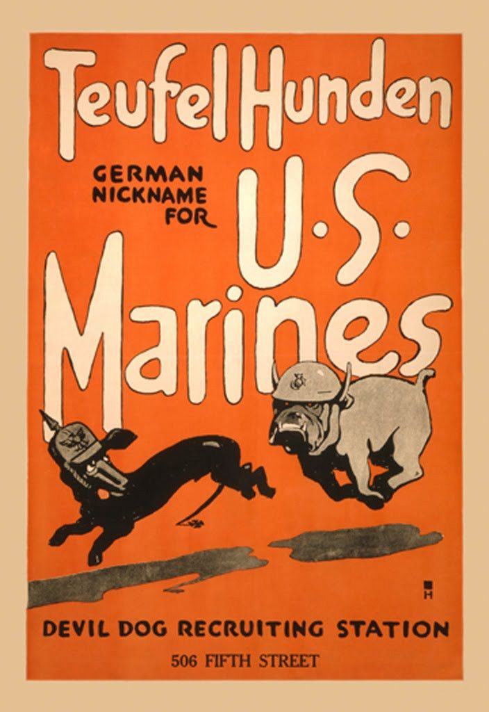 Teufel Hunden - German Nickname for US Marines - Devil Dog Recruiting Station - 506 Fifth Street