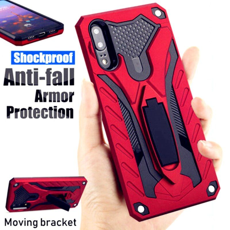 Luxury Armor Shockproof Case For Huawei P20 P30 Lite Mate 30 20 9 10 Pro Y6 Y7 Y9 Prime 2019 Hard Stand Holder Silicon Cover In 2020 Silicone Cover Kickstand Case