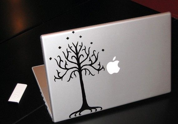 Tree of Gondor Lord of the Rings Macbook Apple Decal. From the crookedcauldron on Etsy.