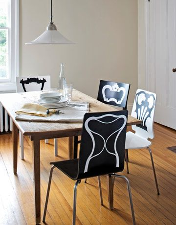 #Ikea hack: Update basic chairs with cheeky decals.