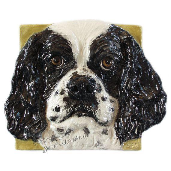 American Cocker Spaniel Ceramic Portrait Sculpture 3d By Alexart64