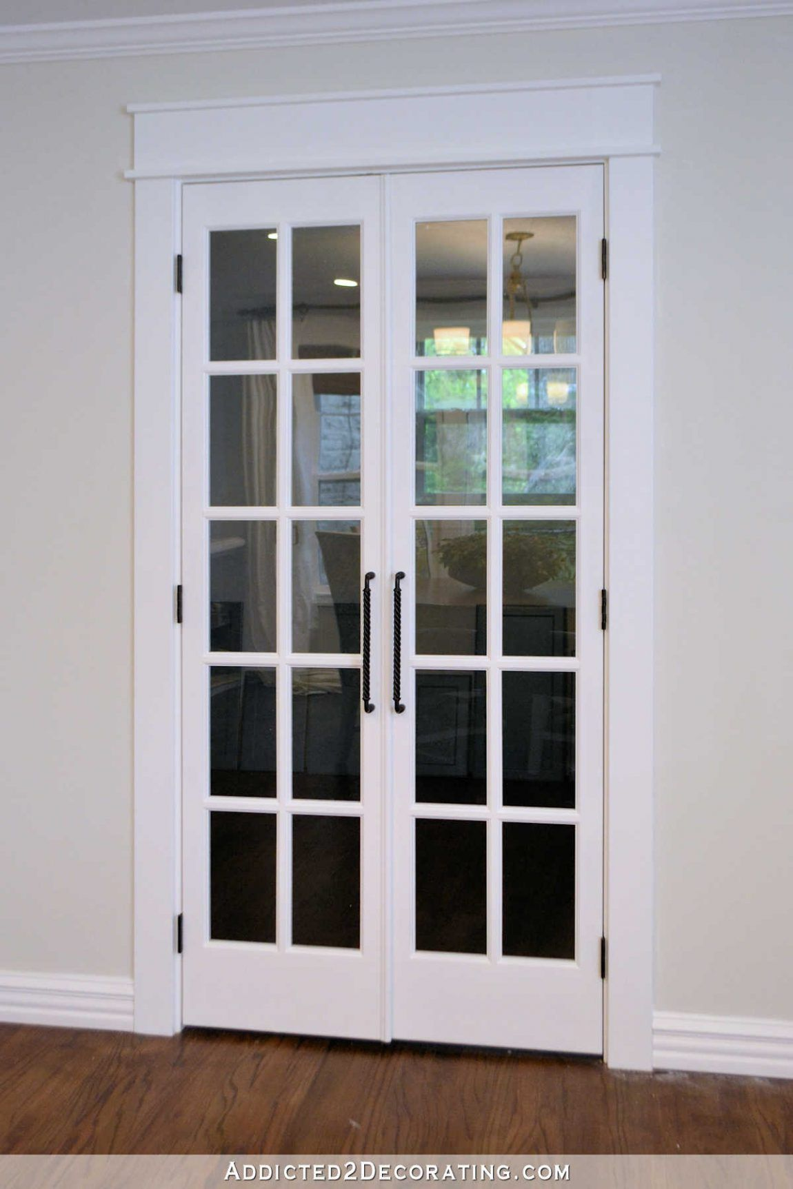 Pantry Doors Finished Bifold Closet Doors Installed As French Doors Addicted 2 Decorating In 2020 French Doors Interior Bifold French Doors Bifold Closet Doors