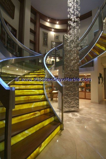 Pin On Backlit Onyx Stairs Steps Risers Balustrade