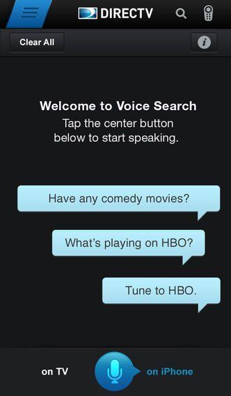 DIRECTV App Voice Control Android/iPhone