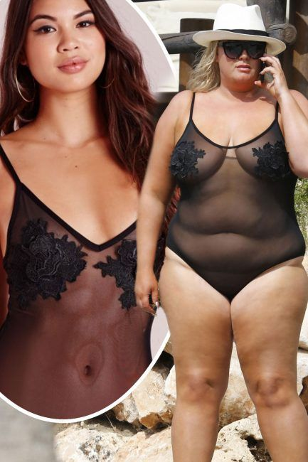 0d30ebb346f1 TOWIEs Gemma Collins causes Missguided 20 bodysuit to SELL OUT after  flaunting her curves in the sexy piece on holiday in Tenerife