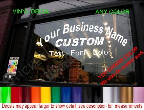 Store name custom window decal business shop storefront vinyl door sign company name personalized sticker decals