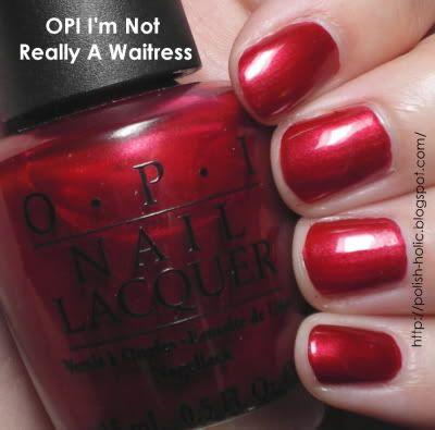 Opi I M Not Really A Waitress The Most Perfect Red Nail Polish