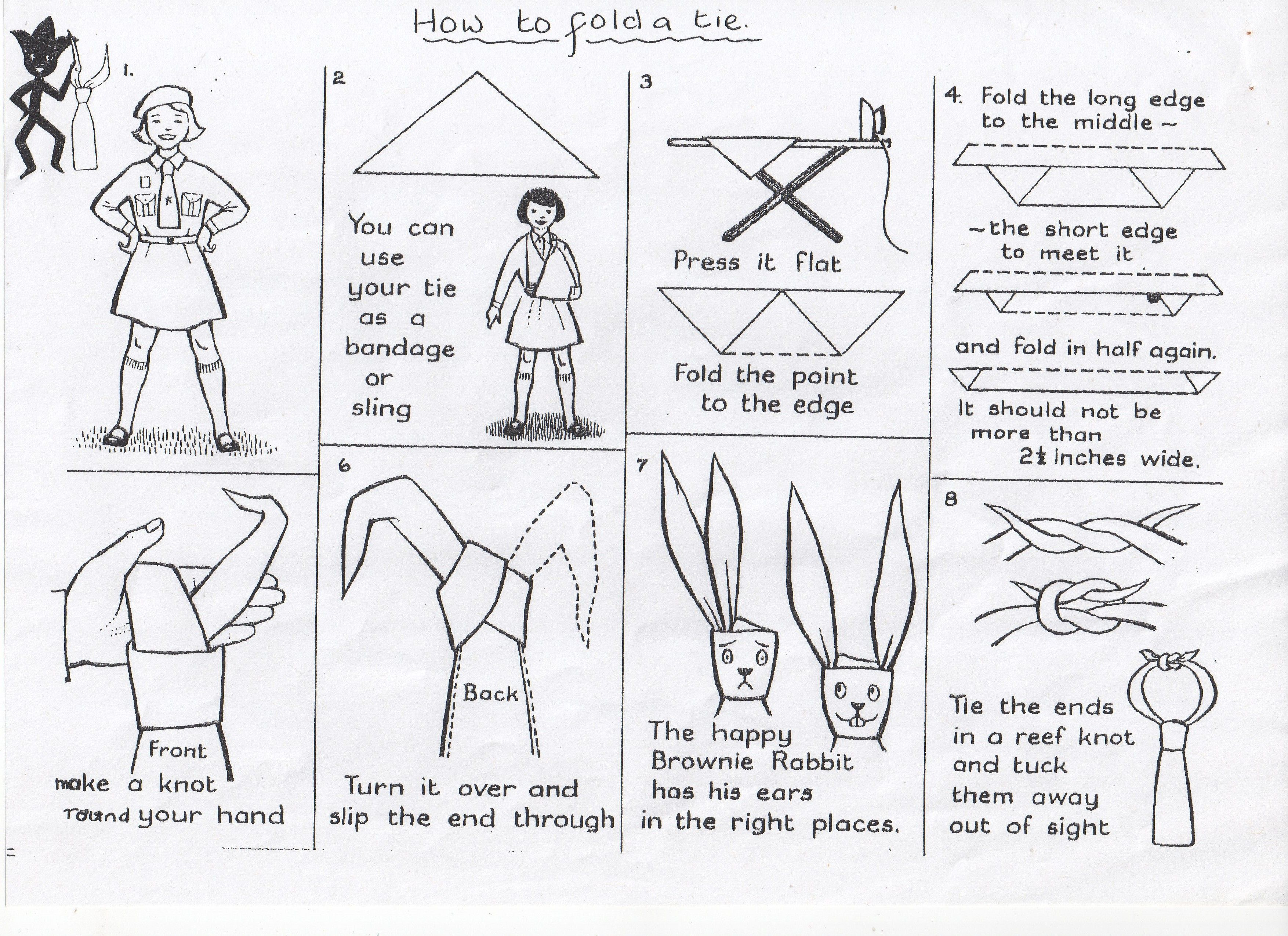 How To Tie Your Tie! A Chart From The 1950's Or 1960's Brownies, Cute
