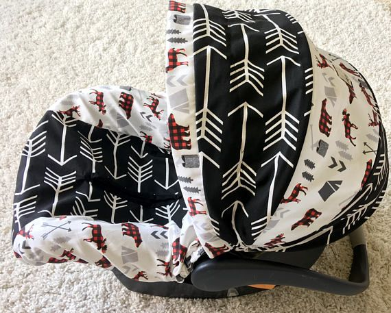 Black Arrows Infant Car Seat Cover Rustic Baby