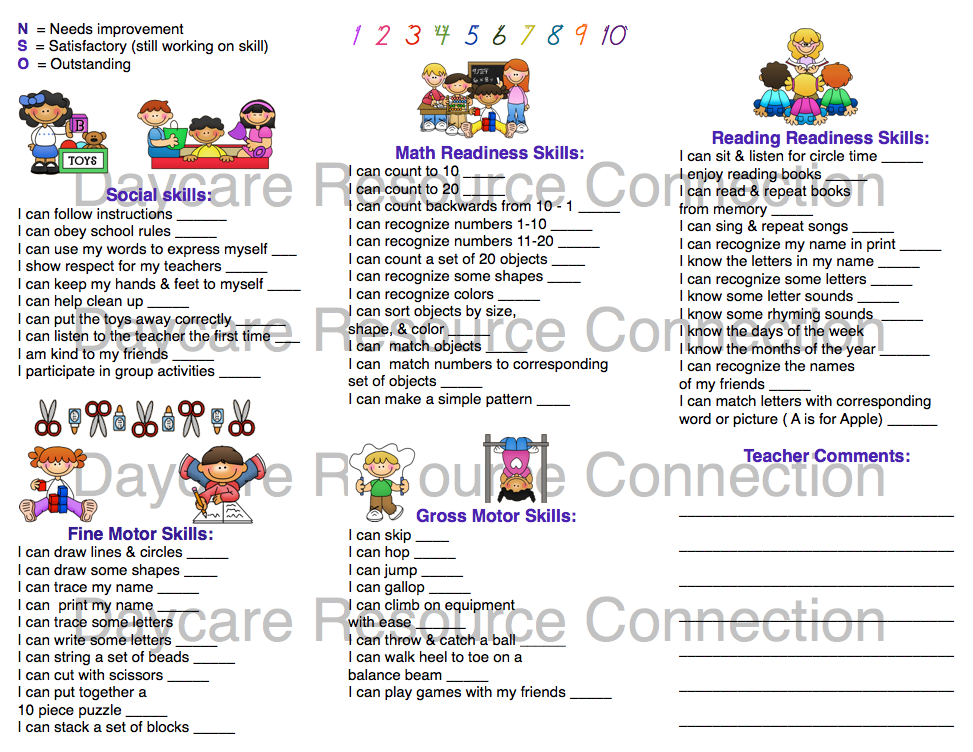 Image Result For Preschool Progress Report Sample  Preschool