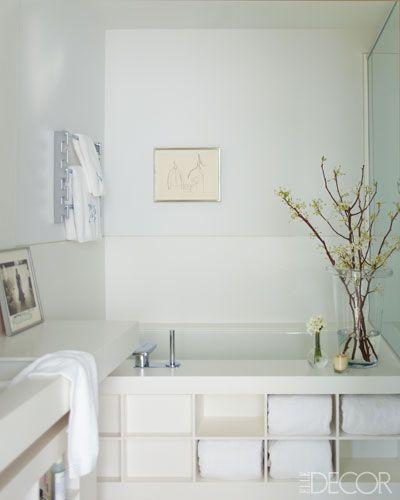 Michael Leva S Master Bath Small Bathroom Decor Bathtub Storage Smart Interior Design
