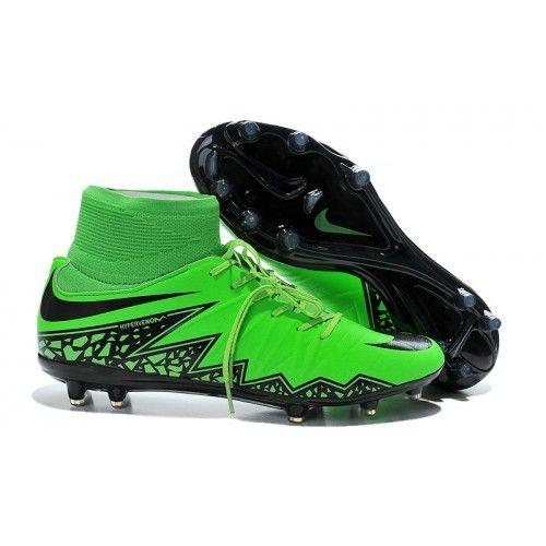 d4df9f41b6d3d Comprar zapatos de soccer Nike Hypervenom Phelon II FG Hombre Verdes Negras