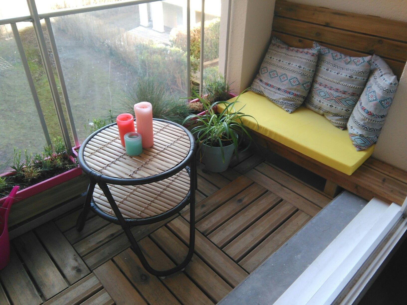 Aménagement balcon étroit en caillebotis bois   Home Sweet Home ...
