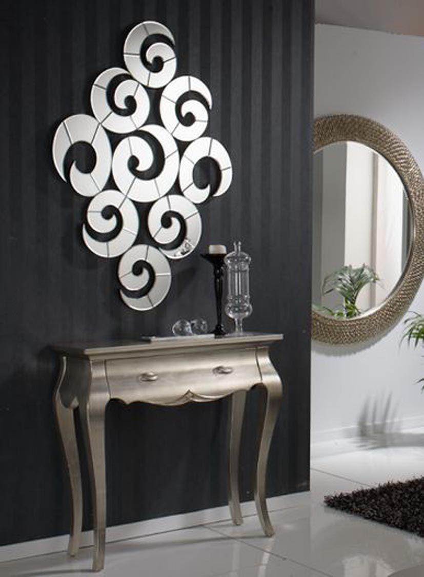 Espejos modernos de cristal espejos originales de cristal for Espejos decorativos para pasillos