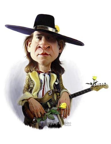 Stevie Ray Vaughan (medium) by rocksaw
