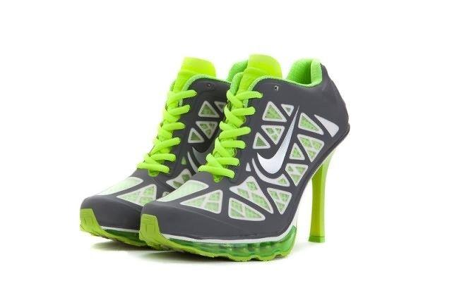 "Nike Air Max 95 High Heels Green Grey Wysokie obcasy Nike ""title = Nike high heels"