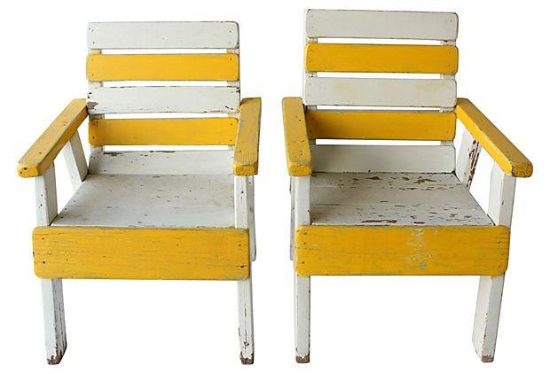 Beach House Chairs, Pair on OneKingsLane.com