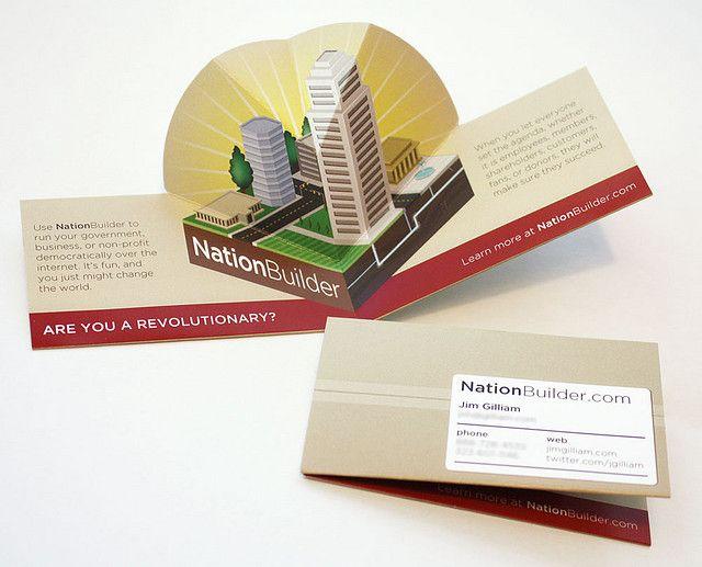 Nationbuilder Pop Up Business Card Business Cards Creative Folded Business Cards Unique Business Cards Design