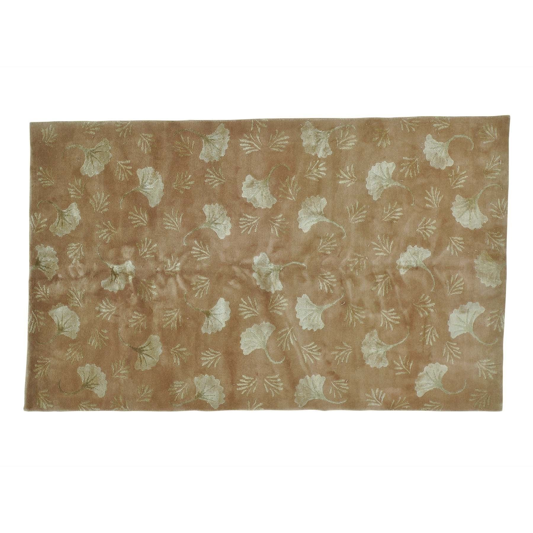 1800getarug Nepali Wool and Floral Design Hand Knotted Rug