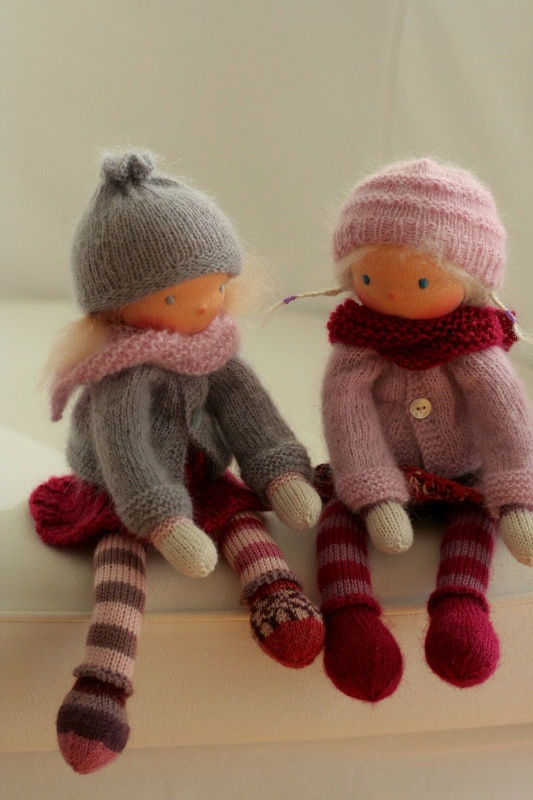 Knitted Waldorf doll by Peperuda dolls | Dolls, Toy and Doll toys