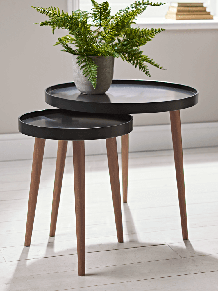 New Lina Side Tables Charcoal Living Room Side Table Side Table Small Round Side Table