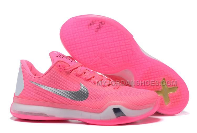 "7549daf0756e High quality Nike Kobe 10 ""Think Pink"" PE Pink White-Silver Hot in ..."